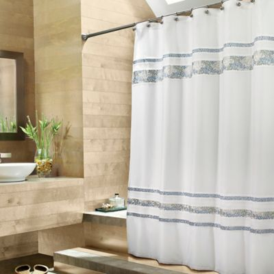 Croscill Spa Tile Fabric Shower Curtain  Bed Bath  Beyond