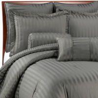 Wamsutta Damask Stripe Comforter Set in Grey - Bed Bath ...