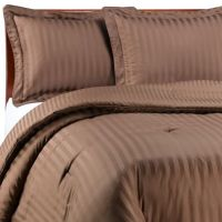 Wamsutta Damask Stripe Comforter Set in Chocolate - Bed ...
