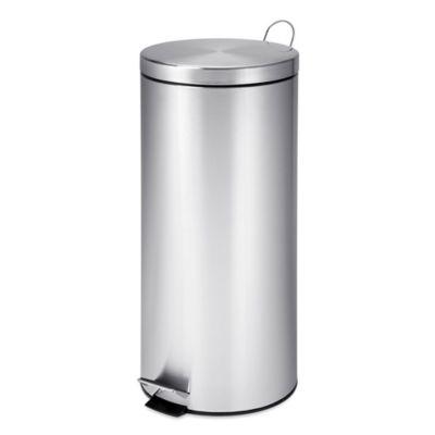 stainless steel kitchen trash can ninja mega system bl771 buy cans bed bath beyond honey do 30 liter step