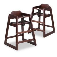 Eddie Bauer High Chairs Chair Covers Peterborough Wood Buybuy Baby Flash Furniture In Walnut Set Of 2