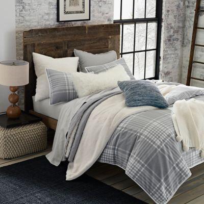 UGG Tara Plaid Flannel Reversible Comforter Set  Bed