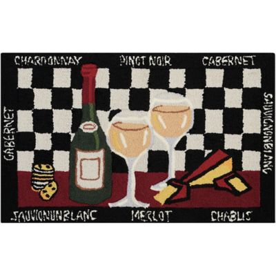 wine kitchen rugs kitchens to go buy bed bath beyond nourison everywhere 22 inch x 54 mat in black