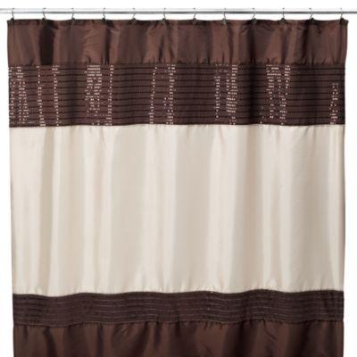 Xanadu Copper 70 W x 72 L Fabric Shower Curtain  Bed