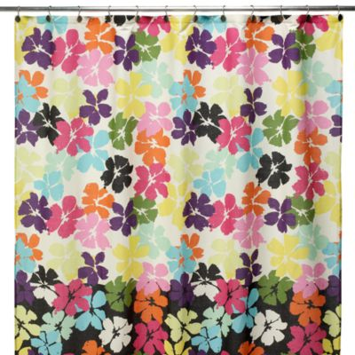 Steve Madden Dahlia Fabric Shower Curtain