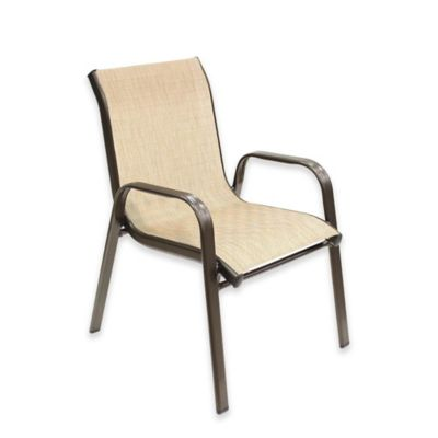 sling back patio chairs wave hill chair buy bed bath beyond never rust aluminum kid s in bronze