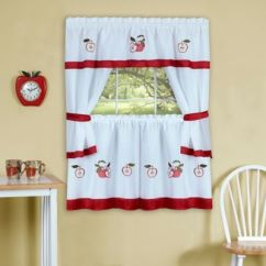 Red Kitchen Valance Ikea Island Buy Curtains Valances Bed Bath Beyond Achim Gala 36 Inch Window Curtain Tier Pair And In
