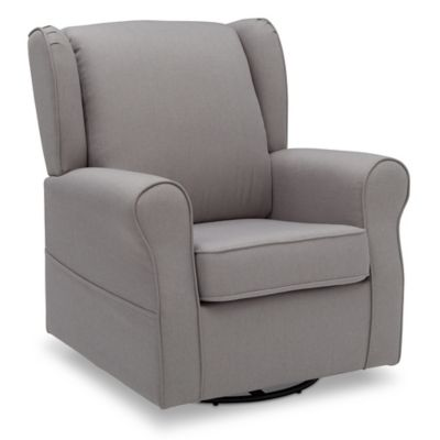 delta avery nursery glider chair grey leather and a half sleeper gliders rockers recliners buybuy baby children reston swivel rocker in french