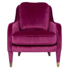 Purple Accent Chair Cover Hire Bedford Buy Bed Bath Beyond Chic Home Gila In Plum