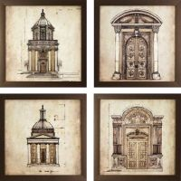 Dcor Therapy European Architectural Prints Framed Wall