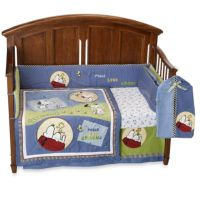 Lambs & Ivy Vintage Snoopy 6-Piece Crib Bedding Set - Bed ...