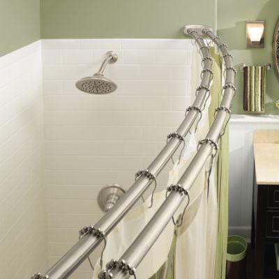 Adjustable Corner Shower Curtain Rod
