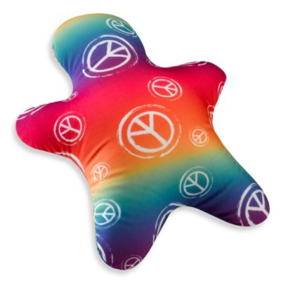 Homedics Sqush Hug Man Pillow  Rainbow with Peace