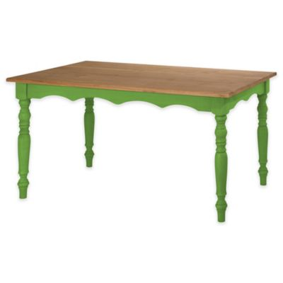 pine kitchen table dishes set buy bed bath beyond manhattan comfort jay solid wood dining in green wash