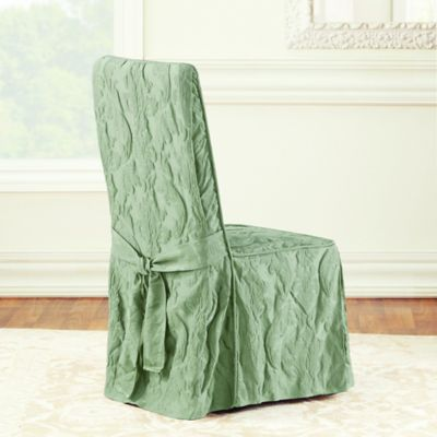 chair covers sage green painted high chairs buy damask bed bath beyond sure fit matelasse dining room cover in