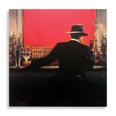 Cigar Bar Man Canvas Wall Art  wwwBedBathandBeyondcom