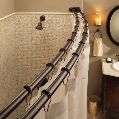 Moen Old World Bronze Double Curved Shower Rod Bed Bath Amp Beyond