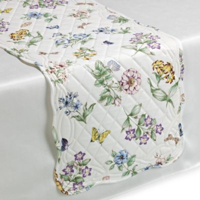Lenox Butterfly Meadow Quilted Table Runner Bed Bath Amp Beyond