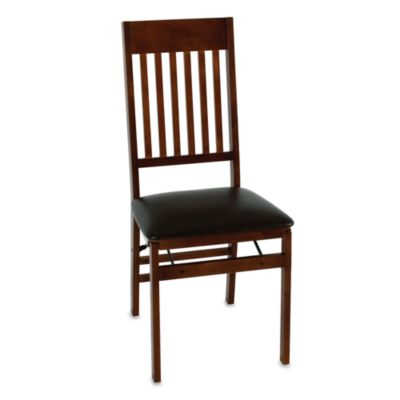 Buy Cosco Wood Folding Chair With Walnut Finish from Bed