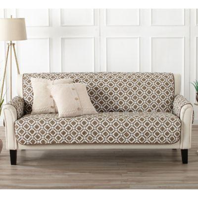 stretch morgan 1 piece sofa furniture cover fundas para sofas en l buy brown bed bath beyond great bay home liliana in