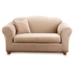 Sure Fit Stretch Stripe 2 Piece Sofa Slipcover Sand Soho By Simmons Upholstery 2-piece Slipcovers Fit® - Bed ...