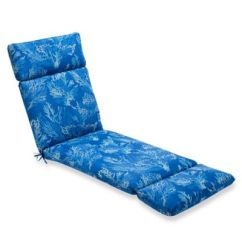 Lounge Chair Cushions Cheap Red Office Buy Cushion Bed Bath Beyond Print Indoor Outdoor Chaise In Sea Coral Cobalt