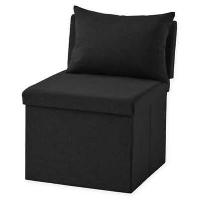 folding chair for living room retro lounge chairs uk buy bed bath beyond ottoman in black
