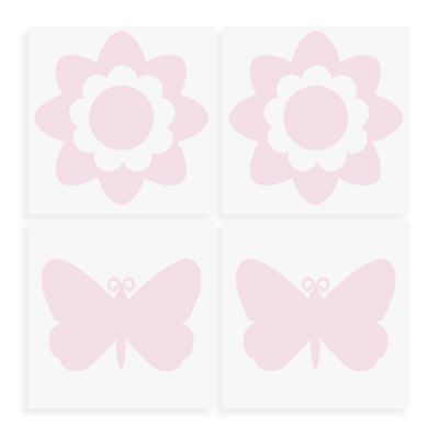 Wallpops Flowers And Butterflies Wall Decals In Pink