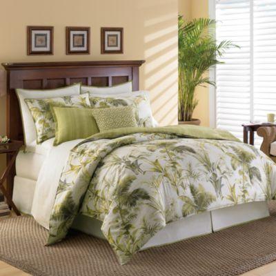 Tommy Bahama Home Island Botanical Comforter Set Bed