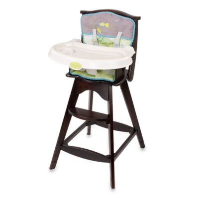 Carters Classic Comfort Reclining Wood High Chair  Bed