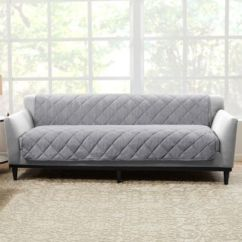 Linen Sofa Slipcover Futon Or Sleeper Buy Slipcovers Bed Bath Beyond Sure Fit Brushed Faux Protector In Grey