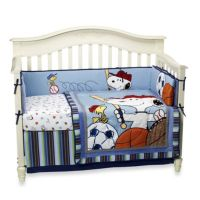 Lambs & Ivy Team Snoopy 4-Piece Crib Bedding Set - buybuy ...