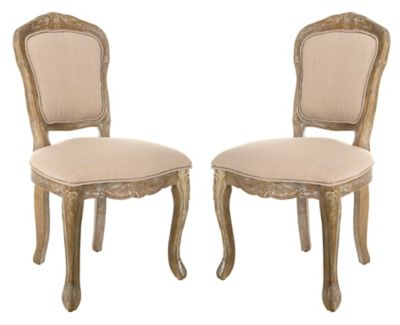 oak kitchen chairs bridal shower invitations buy bed bath beyond safavieh burgess french brasserie side dining in antique white set of 2