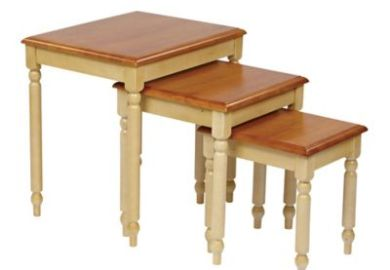 Buy Beveled Mirror Nesting Tables Set Of 2 From Bed Bath