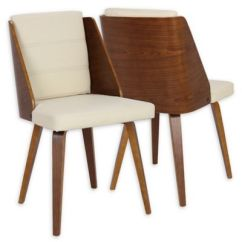 Cream Upholstered Dining Chairs Wooden Folding For Sale Buy Leather Bed Bath Beyond Lumisource Galanti Faux In Brown Set Of 2
