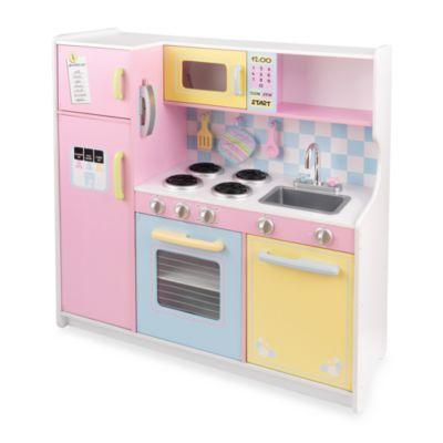 kidkraft large pastel play kitchen KidKraft® Large Pastel Kitchen - buybuy BABY