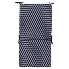 Patio High Back Chair Cushions Revolving Base Online Buy Cushion Bed Bath Beyond Commonwealth Home Fashions Basketweave Outdoor In Navy