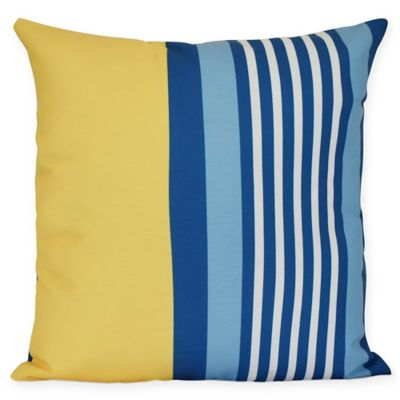 beach chair pillow with strap hanging egg stand buy pillows bed bath beyond shack stripe square throw in yellow