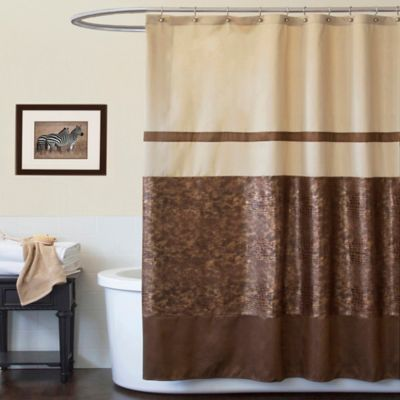Buy Crocodile Brown 72 x 72 Shower Curtain from Bed Bath