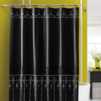 Steve Madden Ava Fabric Shower Curtain