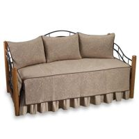 Vallejo 100% Cotton Quilted Daybed Bedding Set in Taupe ...