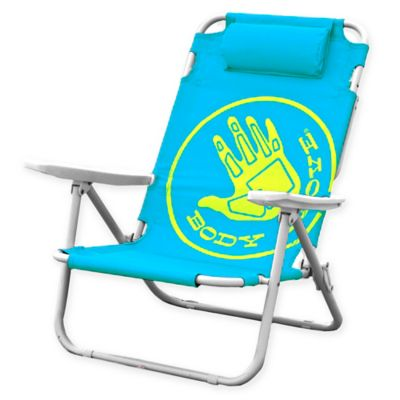 reclining beach chairs best uk buy bed bath beyond body glove 5 position chair in ocean blue