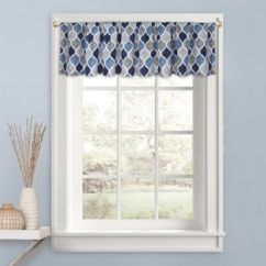 Kitchen Valance Outdoor Kitchens For Sale Buy Valances Bed Bath And Beyond Canada Priya In Blue