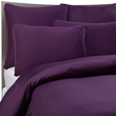 SHEEX Performance Bedding Duvet Cover Set in Plum  Bed Bath  Beyond