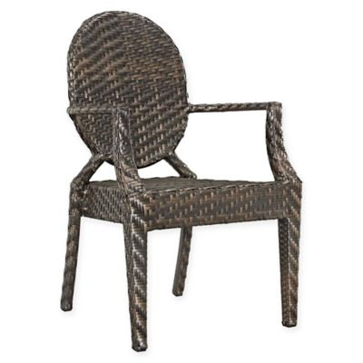 outdoor aluminum chairs diem fishing chair buy bed bath beyond modway casper patio dining arm in brown
