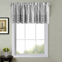 Valances For Kitchen Windows Cabinets.com Buy Bed Bath Beyond Juliette Window Curtain Valance In Grey
