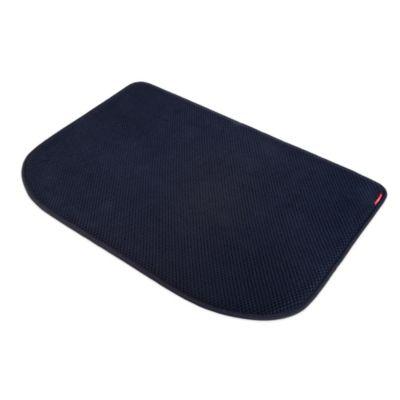 Microdry Memory Foam Luxury Kitchen Mat in Black  Bed
