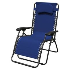 Zero Gravity Outdoor Chairs Cream Tufted Chair Buy Bed Bath Beyond Caravan Sports Oversize In Blue