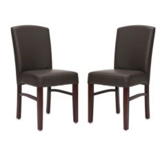Leather Kitchen Chairs Cheap Folding Buy Bed Bath Beyond Safavieh Kevin Side Chair Dark Brown Set Of 2