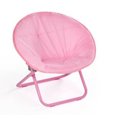 saucer chair for kids folding covers spandex buy chairs bed bath beyond american faux fur in blush